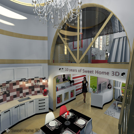 Sweet Home 3D is an open source SourceForge net project distributed under  GNU General Public License. Sweet Home 3D   Draw floor plans and arrange furniture freely