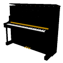 Upright piano by LVlittering