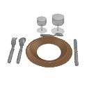 Plate, glasses and cutlery by Sleipnir1