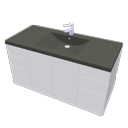 Washbasin with cabinet by Ola-Kristian Hoff
