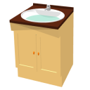 Washbasin with cabinet by Snduc