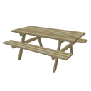 Picnic table by Hawkdawg