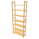 Pinewood rack full height by Dingenskirchen