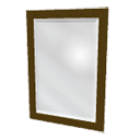Rectangular mirror by Emmanuel Puybaret
