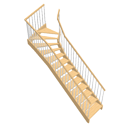 Top winder staircase by Ola-Kristian Hoff