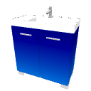Blue washbasin with cabinet by LucaPresidente