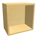 Cube shelf maple by LucaPresidente
