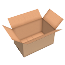 Open cardboard box by Scopia